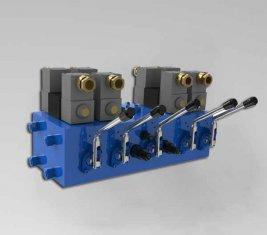 Electro CMJF20 de vanne de contrôle directionnel hydraulique pour 80 / 210 l/min